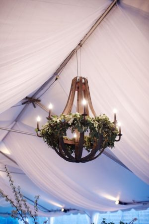 Wedding chandelier - Justin Wright Photography