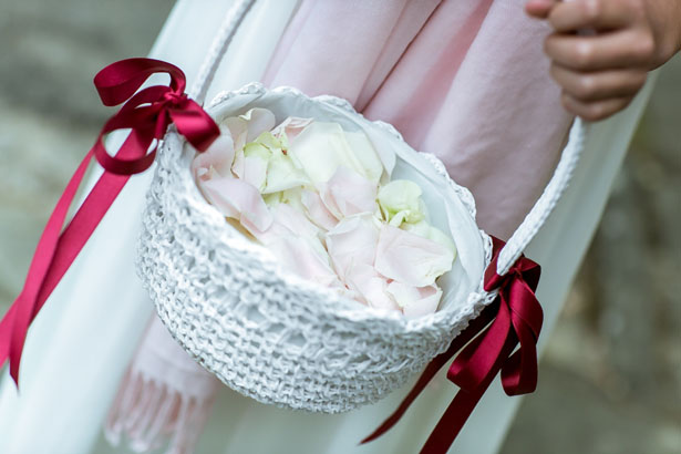 Wedding flower girl basket - David Bastianoni