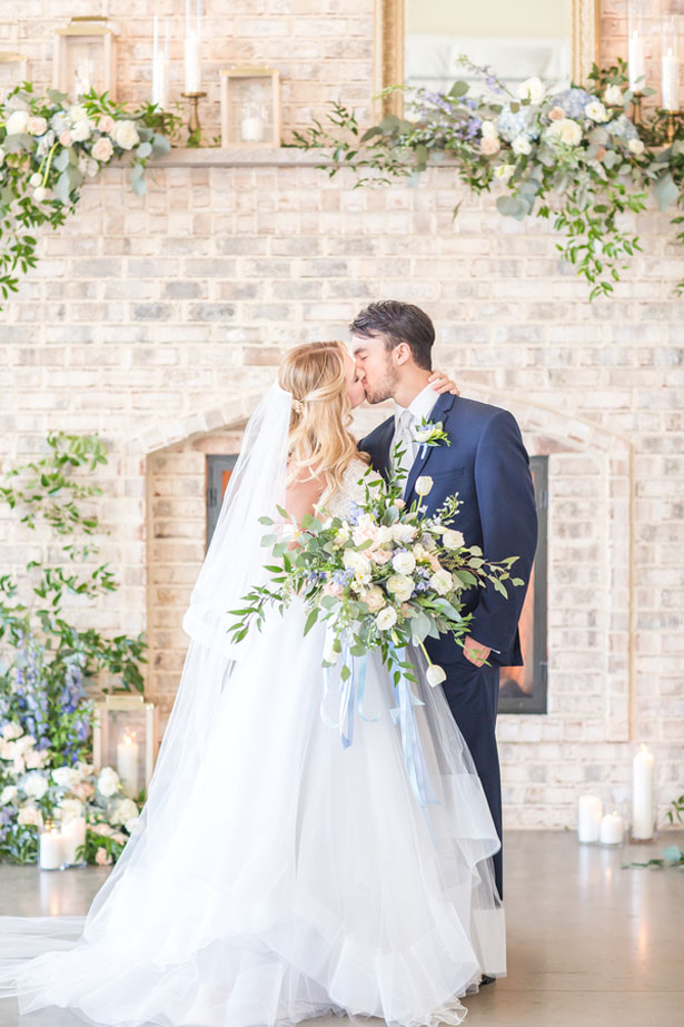Greenery dusty blue and gold spring wedding inspiration belle wedding kiss anna holcombe photography junglespirit Choice Image