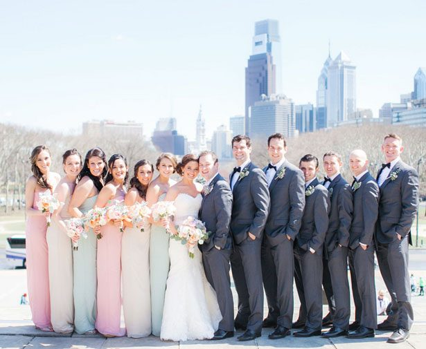 Wedding party picture - Clane Gessel Photography