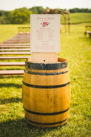 Wedding program - Sam Hurd Photography