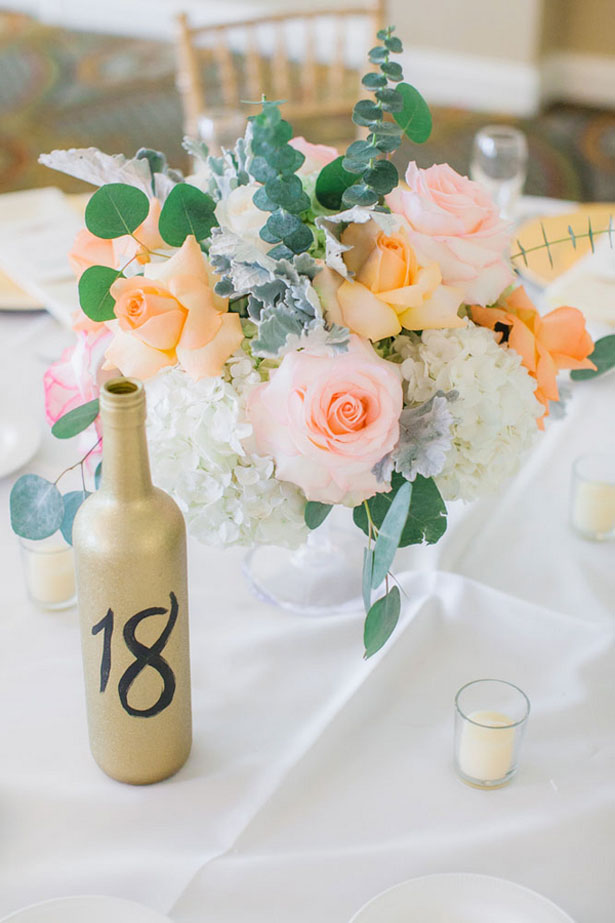 Wedding table number - Clane Gessel Photography