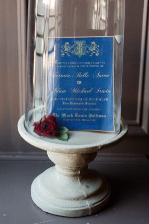 Blue wedding invitation - Melissa Sigler Photography
