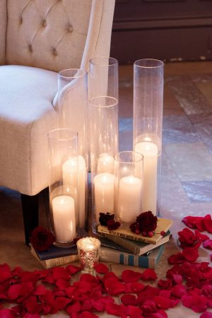 Candle wedding decor - Melissa Sigler Photography