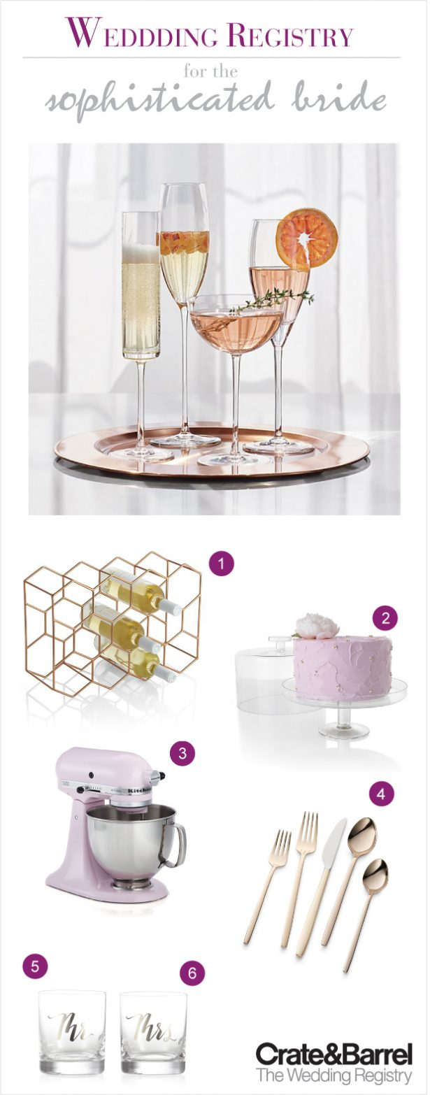 The Wedding Registry for the Sophisticated Bride with Crate and Barrel