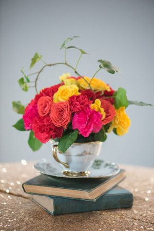Floral wedding arrangement - Corner House Photography
