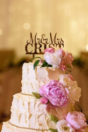 Floral wedding cake - Katie Whitcomb Photographers