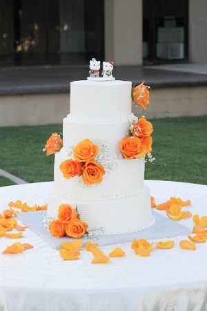 Floral wedding cake - Priscilla Concepcion Photography