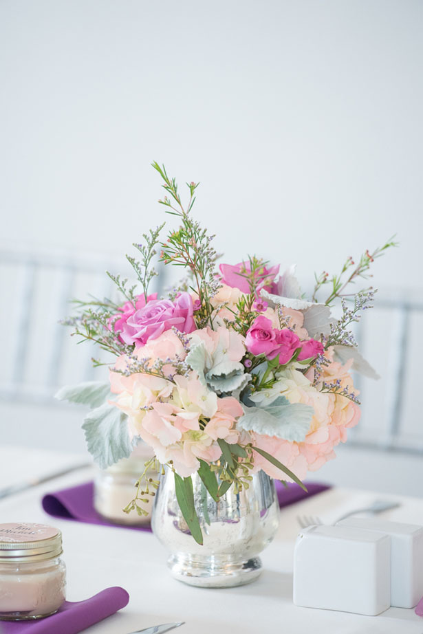 Floral wedding centerpiece - Corner House Photography