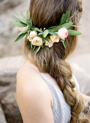Floral wedding crown - Ashley Rae Photography