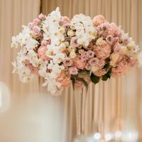 Floral wedding table centerpiece - Lin And Jirsa Photography