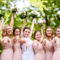 Fun bridesmaid picture - Katie Whitcomb Photographers