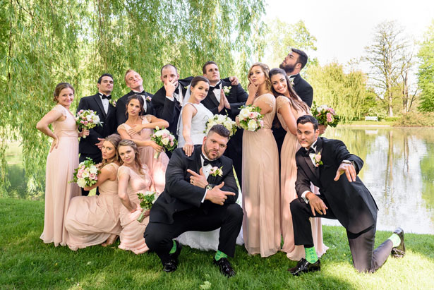 Fun wedding party picture - Katie Whitcomb Photographers
