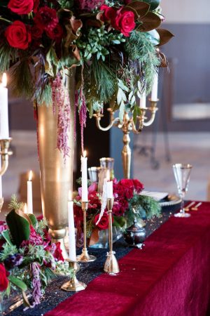 Gold wedding decor - Melissa Sigler Photography