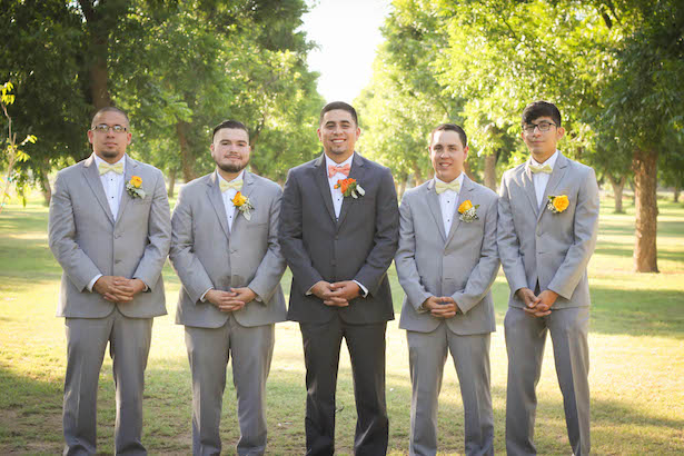 Grey groomsmen tux - Priscilla Concepcion Photography