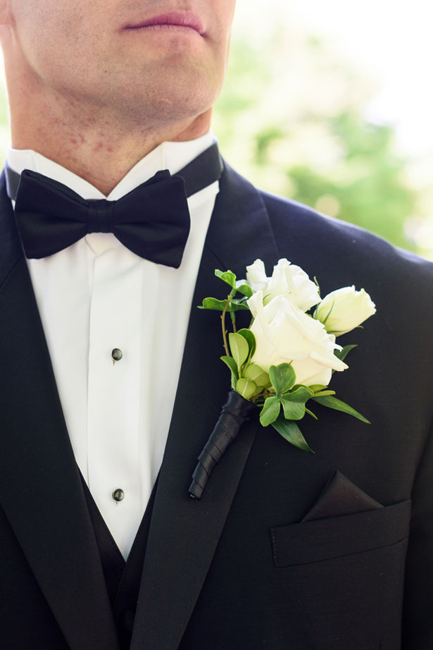 Groom boutonniere - Katie Whitcomb Photographers