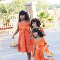 Orange flower girl dress ideas - Priscilla Concepcion Photography