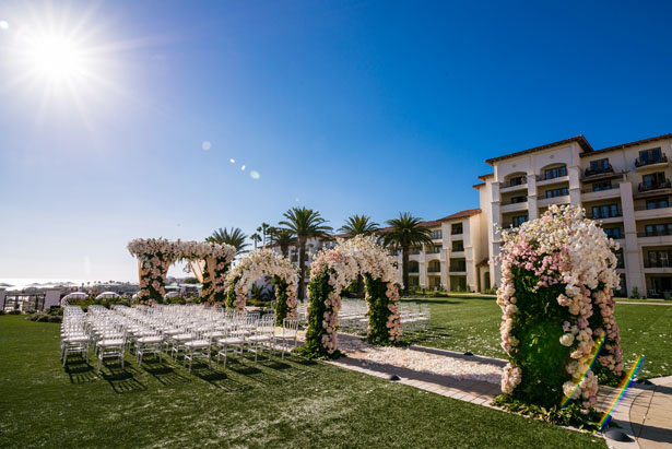 Outdoor wedding ceremony - Lin And Jirsa Photography