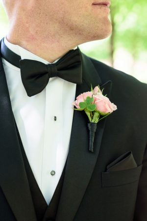 Pink groomsmen boutonniere - Katie Whitcomb Photographers