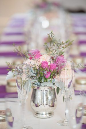 Short wedding centerpiece - Corner House Photography