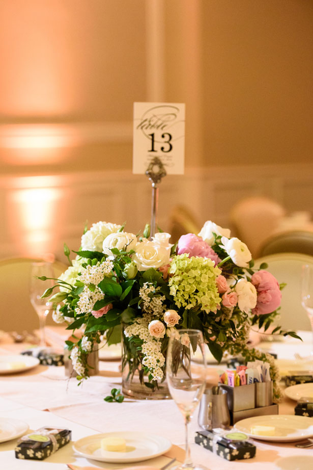 Short wedding centerpieces - Katie Whitcomb Photographers