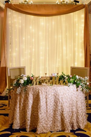 Sweetheart table decor - Katie Whitcomb Photographers