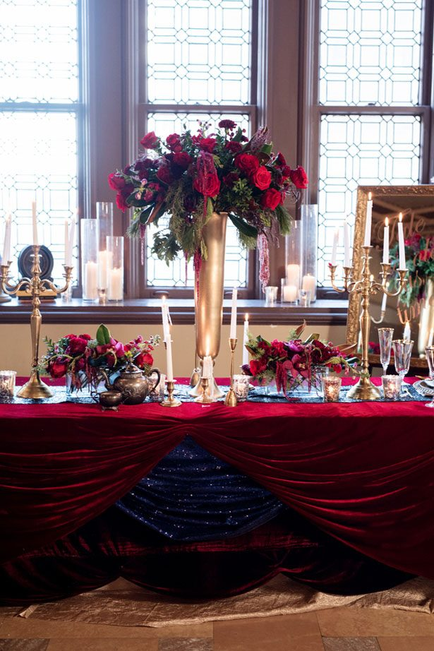 Tall wedding centerpiece - Melissa Sigler Photography