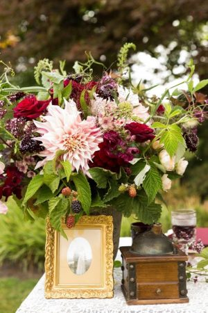 Vintage wedding decor idea - LLC Heather Mayer Photographers