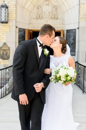 Wedding kiss - Katie Whitcomb Photographers