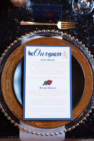 Wedding menu - Melissa Sigler Photography