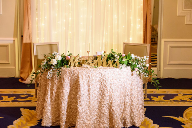 Wedding sweet heart table - Katie Whitcomb Photographers