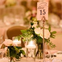 Wedding table number - Katie Whitcomb Photographers