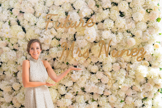 Beautiful bridal shower floral wall idea - Cary Diaz Photography