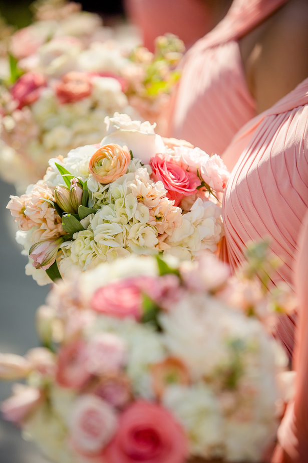 Blush bridesmaid bouquets - Freeland Photography