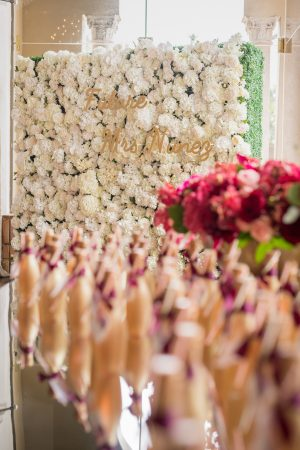Bridal Shower floral wall - Cary Diaz Photography