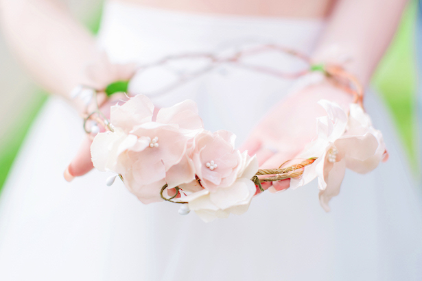 Bridal flower crown - Caroline Ross Photography