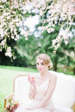 Spring bridal portrait - Caroline Ross Photography