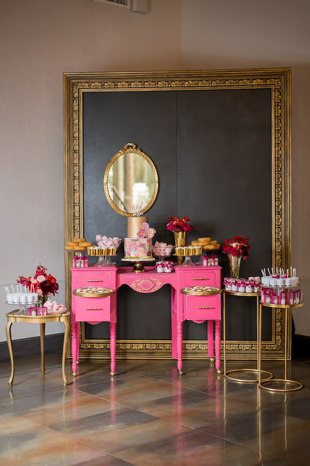 Bridal shower cake table - Cary Diaz Photography
