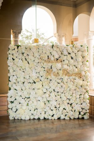 Bridal shower flower wall ideas - Cary Diaz Photography
