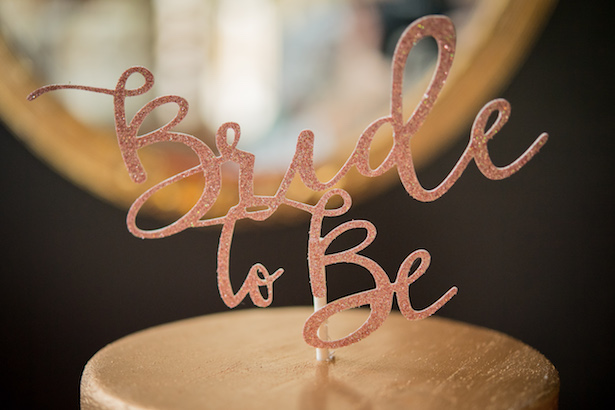 Bride to be cake topper - Cary Diaz Photography