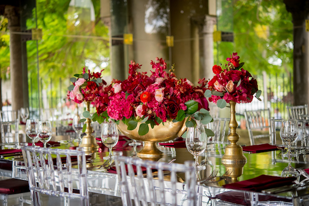 Gold and red bridal shower - Cary Diaz Photography