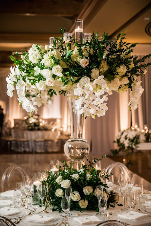 Greenery Wedding Centerpiece - Lin & Jirsa Photography