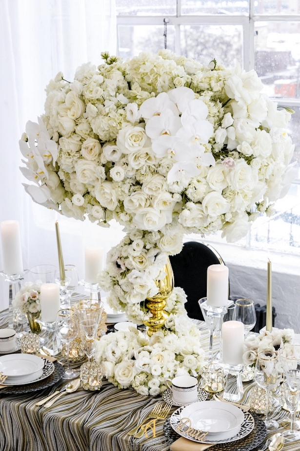 Opulent Wedding Centerpiece - Amy Anaiz Photography