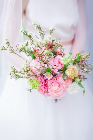 Pink wedding bouquet - Caroline Ross Photography
