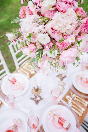 Pink wedding flowers - Caroline Ross Photography