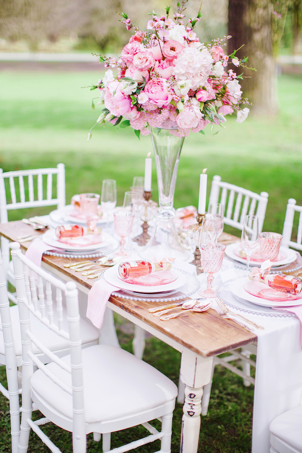 Pink wedding tablescape - Caroline Ross Photography