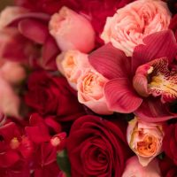 Red and pink wedding flowers - Cary Diaz Photography