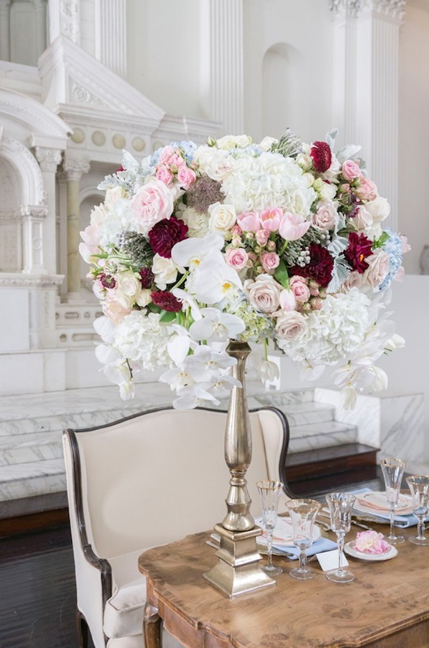 Tall Wedding Centerpiece - Peterson Design & Photography