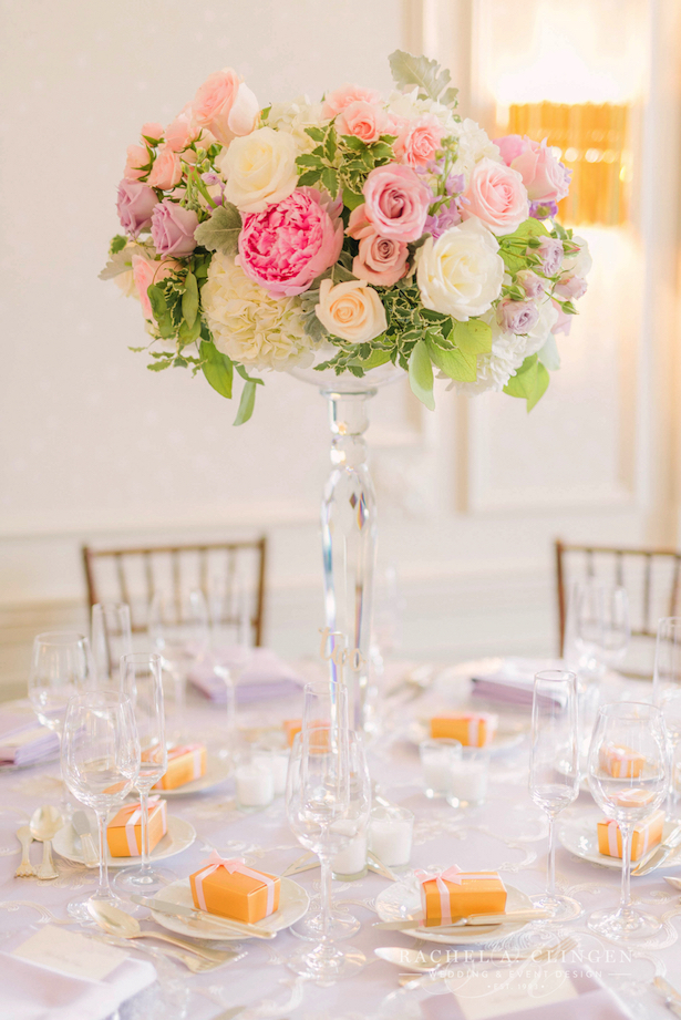 Tall Wedding Centerpieces - photographer: Elizabeth in Love