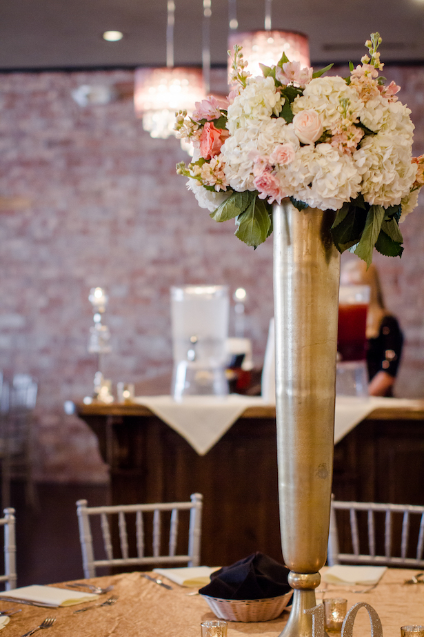 Tall wedding centerpiece - Freeland Photography